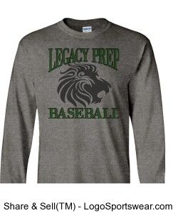 Legacy Prep Baseball - 100% Heavyweight Ultra Cotton Long Sleeve Adult T-Shirt Design Zoom